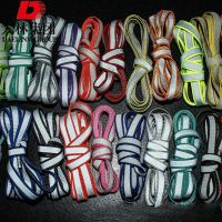 Manufacturers wholesale bright double-sided sports reflective lace, flat night luminous shoelaces,
