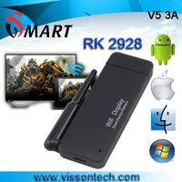2013 latest miracast dongle V53A rk2928 wifi dislay linux miracast dlna airplay dongle for andoid IO