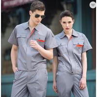 custom Summer short sleeve breathable mechanic work clothing suits workwear tc uniforms with logo fo thumbnail image