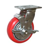 Heavy Duty Caster Wheels With Brake / Industrial  Polyurethane Wheel For Casters thumbnail image