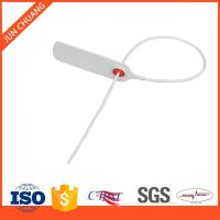 Plastic security seal for containers, banks and cash bags