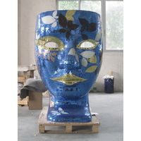 Replica home furniture outdoor fiberglass nemo mask chair face chair put mosaic thumbnail image