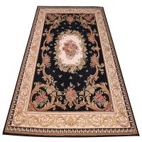 200x200 CM Blue Polyester Jacquard Meter Living Room Rug Carpet