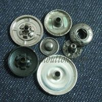 Jeans silver types tack button print custom made