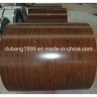 Wood2801 Grain Design PPGI/Color Coated Steel Coil for Wall Panel and Decorating The House Made in C