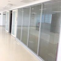 Double tempered glass partitions electric sheets office glass walls thumbnail image