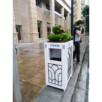 large stainless steel outdoor garbage can,waste bin, trash can,waste container GPX-100