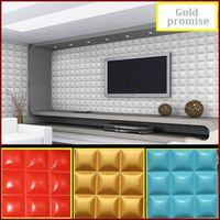 3D decorative glue on wall ceiling panel wallpaper Art wall decor 32 sqf 12 pcs thumbnail image