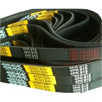 Multi wedge rubber belt, transmission belt thumbnail image