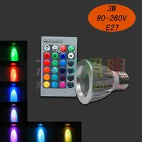 3w led spotlight Lamp spot light with Remote Control multiple colour led bulb lighting