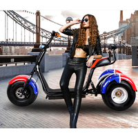 3 wheel electric harley electric scooter motor thumbnail image