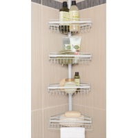 bathroom tension pole accessories caddy