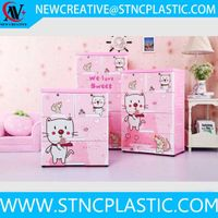 factory price baby plastic drawer cabinet  with two lock thumbnail image