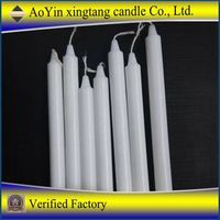 Church votive candle religious use white candle
