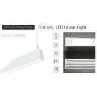 LED linear light for office, cafe, home and shop