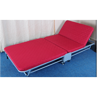 Hotel or guestroom metal wooden folding bed