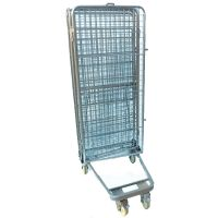 Warehouse Custom Wire Mesh Metal Transport Roll Container Trolley