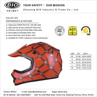 kids dir bike helmet DOT certificated