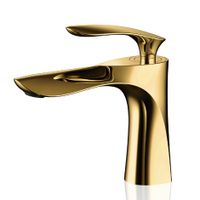 2018 luxury Contemporary brass golden bathroom basin faucet basin mixer