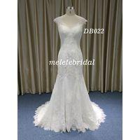 Mermaid V Neckline Neckline Backless Wedding Gown