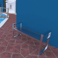 HRP FURNITURE STAINLESS STEEL PATIO BENCH