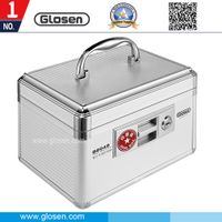 Glosen Aluminum Material Silver Color 6 Cells Seal Box with Lock B8049 thumbnail image