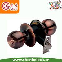 safe zinc plate cylindrical knob lock