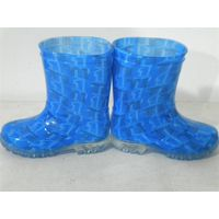 100% waterproof, cute and colorful children's pvc/nitrile rubber rain boots