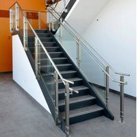 glass stair railing stainless steel balustrade
