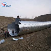 Road Culverts Galvanized Corrugated steel culvert pipe
