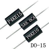 Free Samples 600W 6.8-440V DO-15 TVS Chip Rectifier Diode P6KE10A/CA