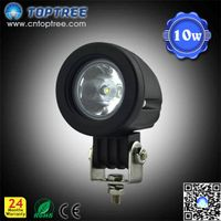 Round Mini 10W LED Work Light Motorcycle Light