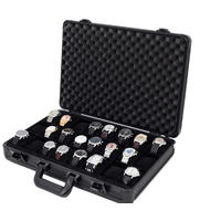 Aluminum Watch Case 24 Watches Display Handle Briefcase