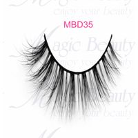 Fluffy 3d mink lashes MBD35 for daily using