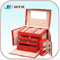 Luxury Wood Jewelry Box with PU and Velvet thumbnail image